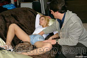 Passed out cute blonde girl gets fucked at a Furniture Store – photo gallery – images – 96