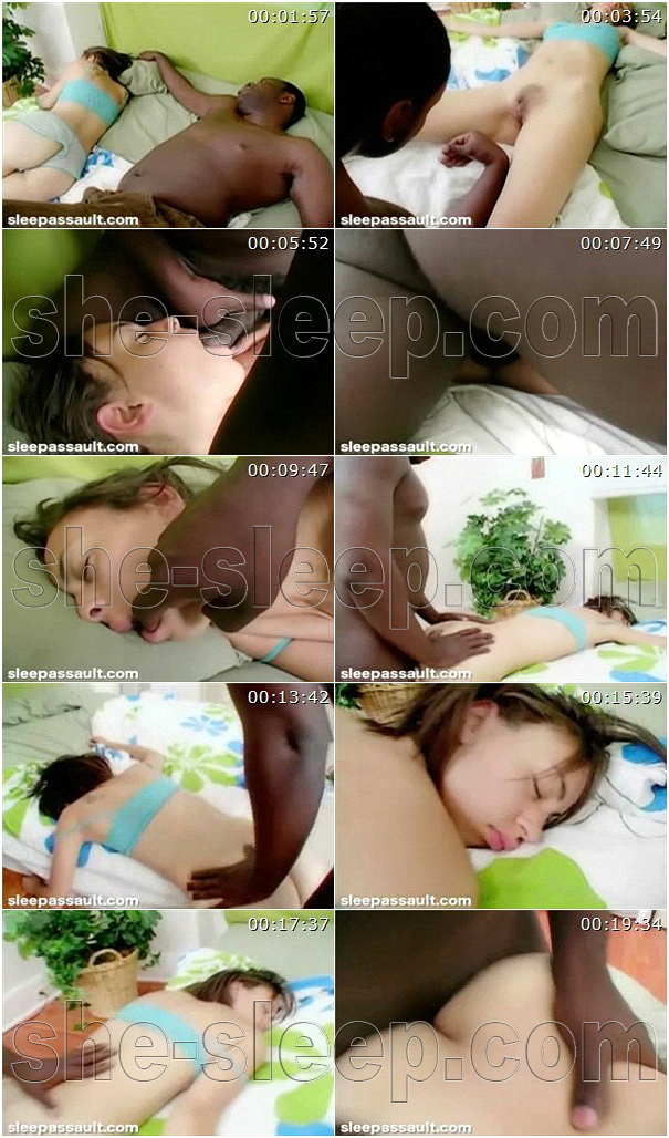 Adorable Dana Rock gets her tight meathole screwed while sleeping
