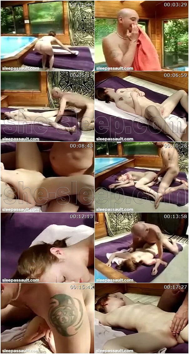 Jenn - passed out girl gets fucked in her deep sleep