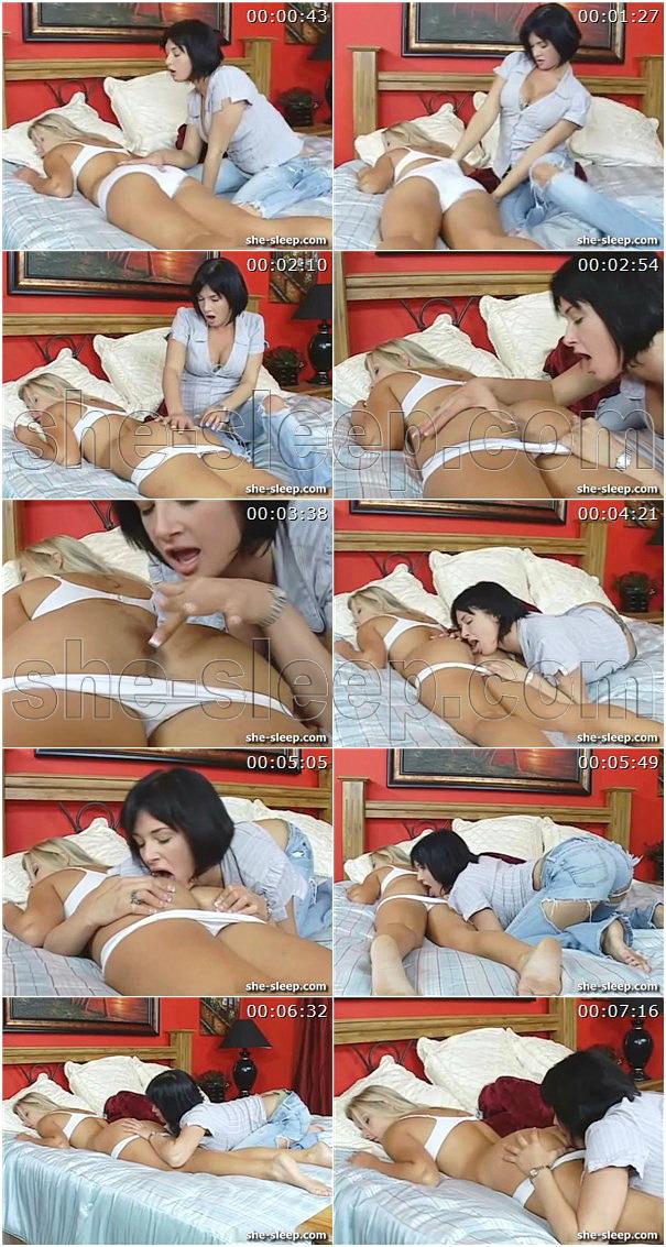 Hot lesbian sleeping sex video taken by her fiend