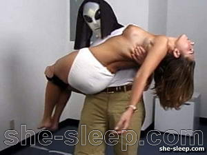 Masked pervert has fun with sleeping teen